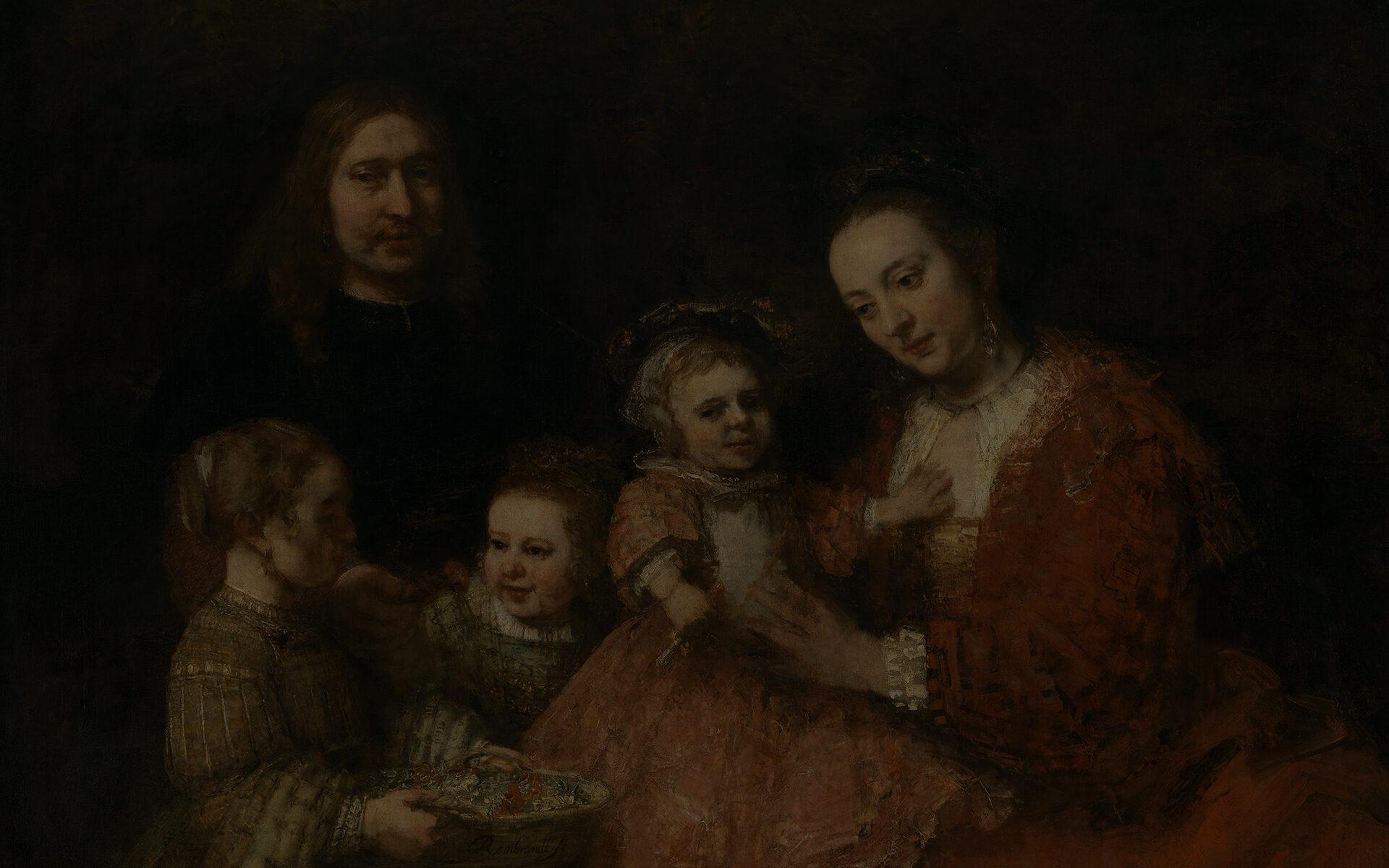 Slide Image Background Familieportret